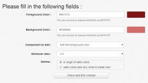 Tanaguru Contrast Finder - formulář
