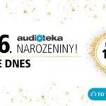 Audiotéka slaví 6. narozeniny a nabízí všechny tituly za 149 Kč