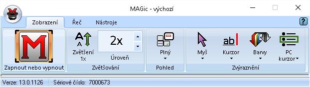 MAGic - uživatelské rozhraní