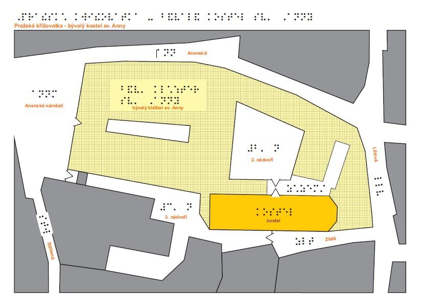 Pražská Křižovatka - haptická mapa