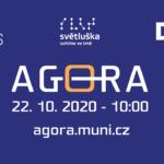 Podzimní Agora 2020 ONLINE startuje ve čtvrtek 22. 10. v 10.00 živým přenosem plenární sekce