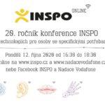 INSPO 2020 online proběhne v pondělí 12. října od 16.30