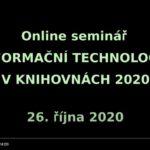 Informační technologie v knihovnách 2020: webinář o přístupnosti webu